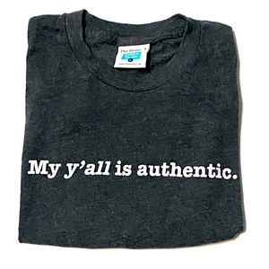 Ladies Graphic Tee My Y'all Is Authentic Large